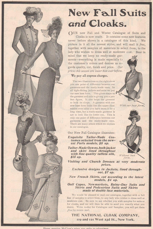 Original National Cloak Ad Woman S Clothing Unique Home Decor