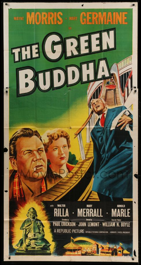 Emovieposter Com Image For 7t740 Green Buddha 3sh 1955 Wayne Morris Cool Image Of Cops On Rollerco Classic Movie Posters Movie Posters Vintage Vintage Movies