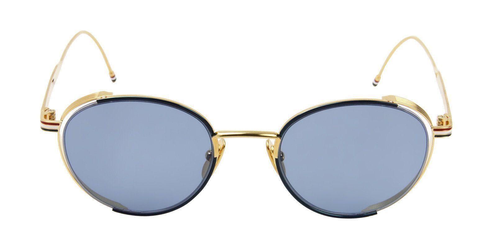 46f5b1170f0 Thom Browne - TB106C Gold - Blue sunglasses