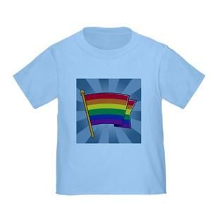 I LOVE That Sears is selling a gay shirt for kids. Toddler T-Shirt Gay Real Rainbow Flag- Artsmith Inc