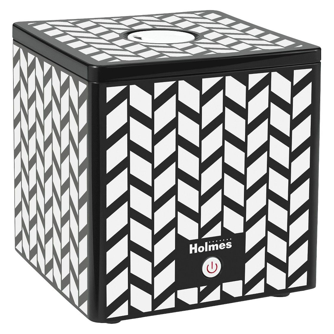 Holmes Ultrasonic Cube Humidifier Blk/Wht Design Pink