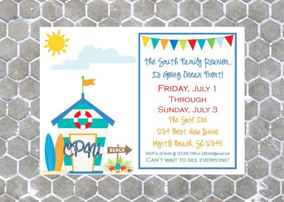 Surf's Up Invitation by CustomParty4U on Etsy, $20.00