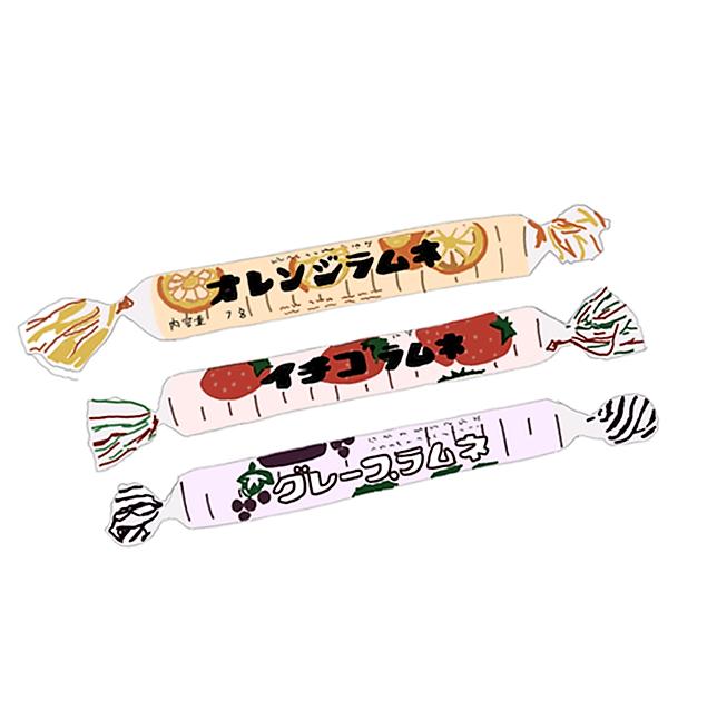 昭和の懐かしすぎる10円駄菓子 あべっ子ラムネ ラムネ 駄菓子 駄菓子 食べ物のパッケージデザイン