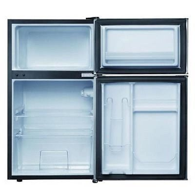 Delightful Mini Refrigerator In Black, 2 Door   Separate True Freezer Compartment  Offers A Way To Stock Up On Frozen Foods. Can Rack Holds Up To 6 Cans And  Dispenses ... Part 25