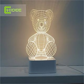 Canwinamazon Teddy Bear Style Smart Led 3d Table Lamp Lamp Table Lamp 3d Table Lamp