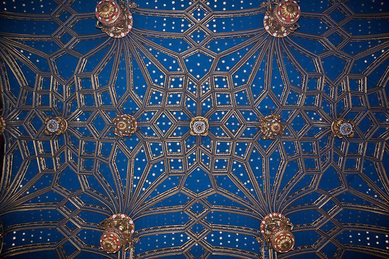 Ceiling In Hampton Court Palace, England