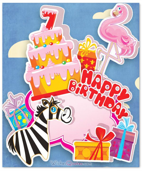 Happy 7th Birthday Wishes Nice Messages Cards