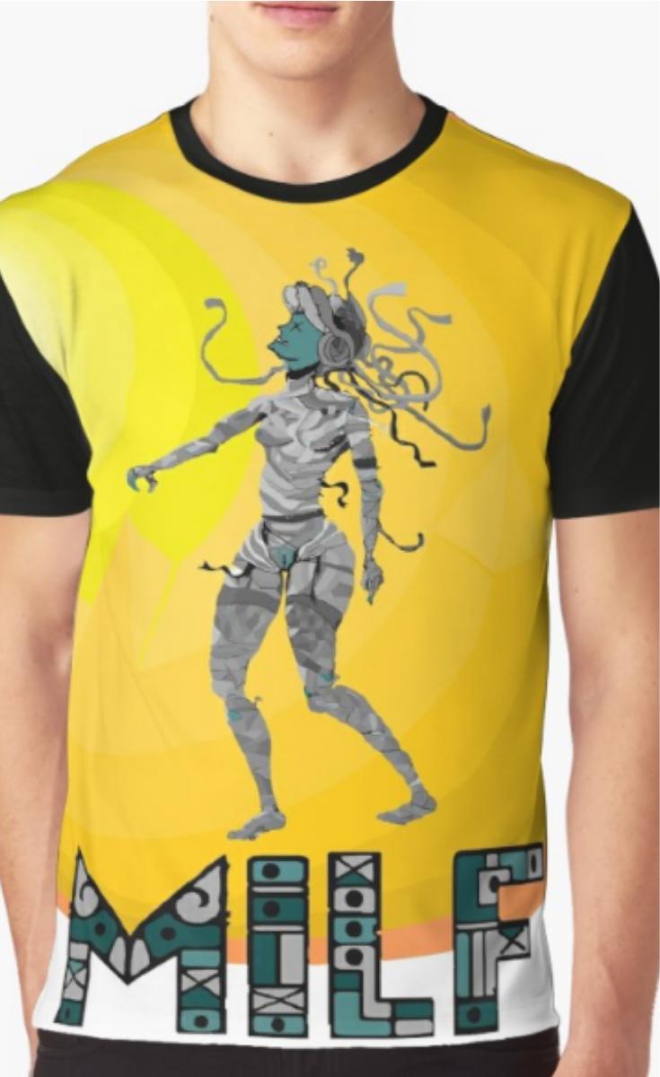 7289b9cb5 MILF | Graphic T-Shirt in 2019 | Funny|Humor|T-shirt | T shirt, Mens ...