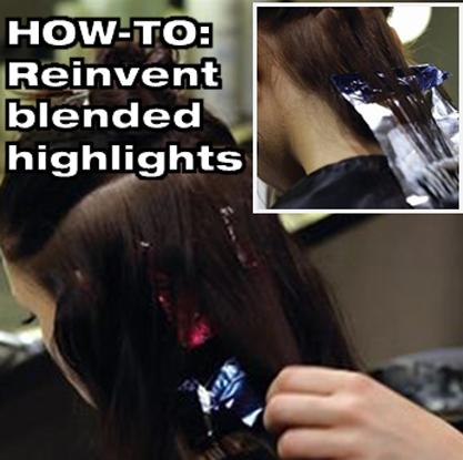 Essenza Transformation Peach Sable Highlights From Alfaparf Milano Behindthechair Com Hair Techniques Hair Foils Hair Color