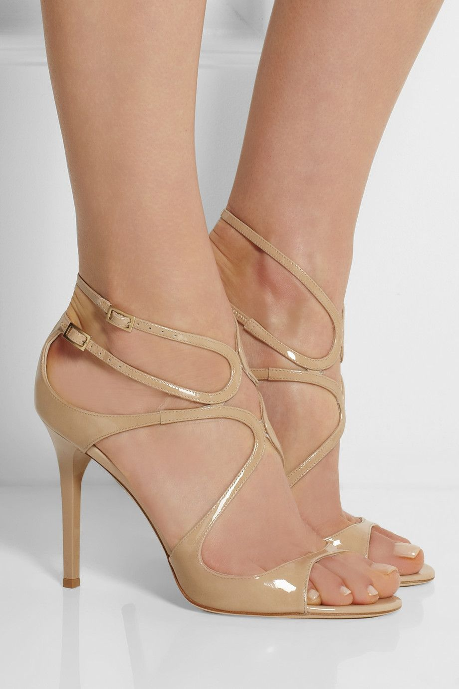 Jimmy choo Lang 100 Patent Heels in Neutrals. bug70q