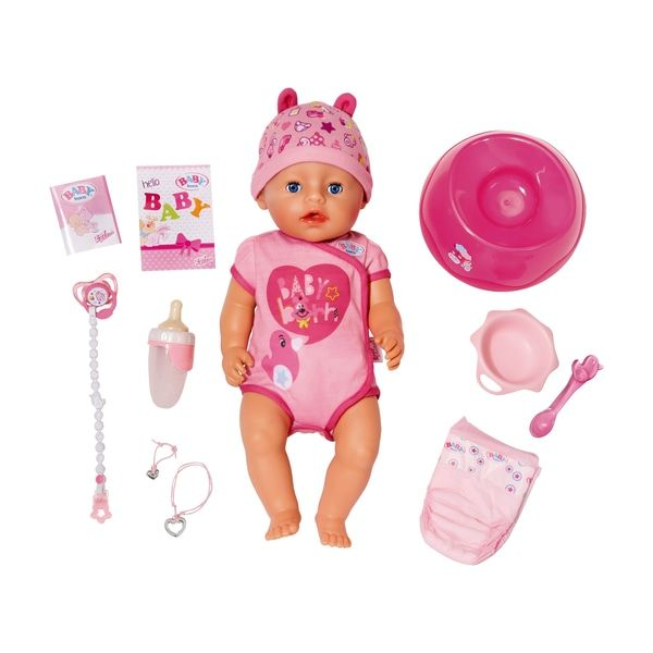 Baby Born Soft Touch Girl Blue Eyes Smyths Toys With