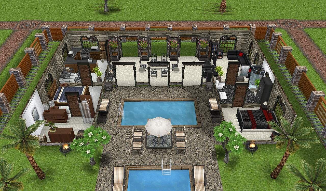 outdoor house and patio casas de