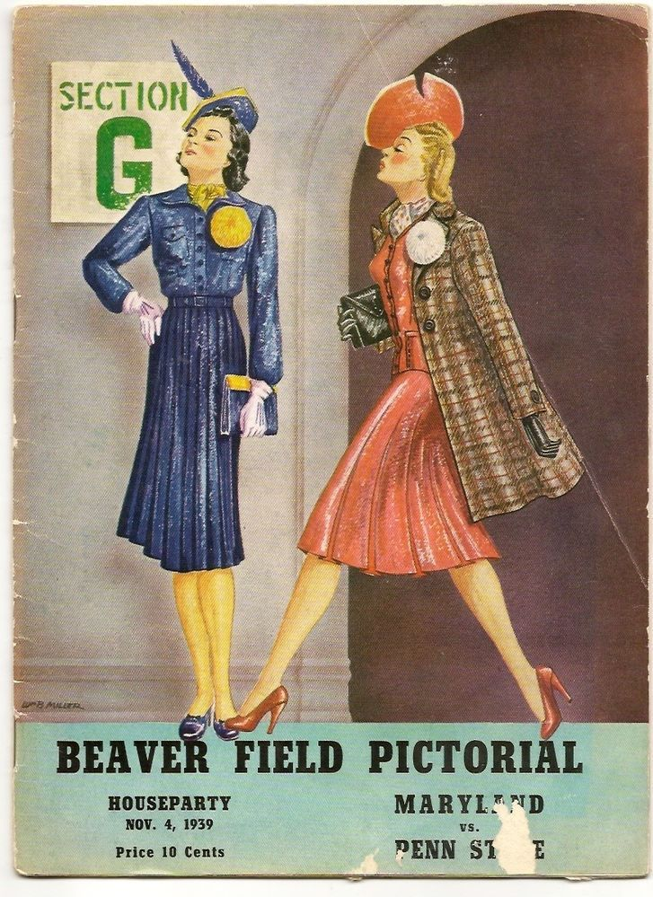 VINTAGE MARYLAND vs PENN STATE FOOTBALL PROGRAM 1939