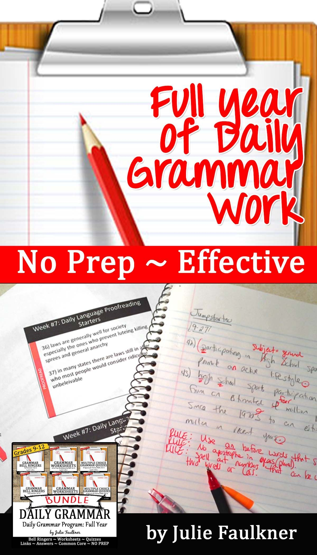 Grammar Bundle Ten Minute Daily Grammar Practice Full