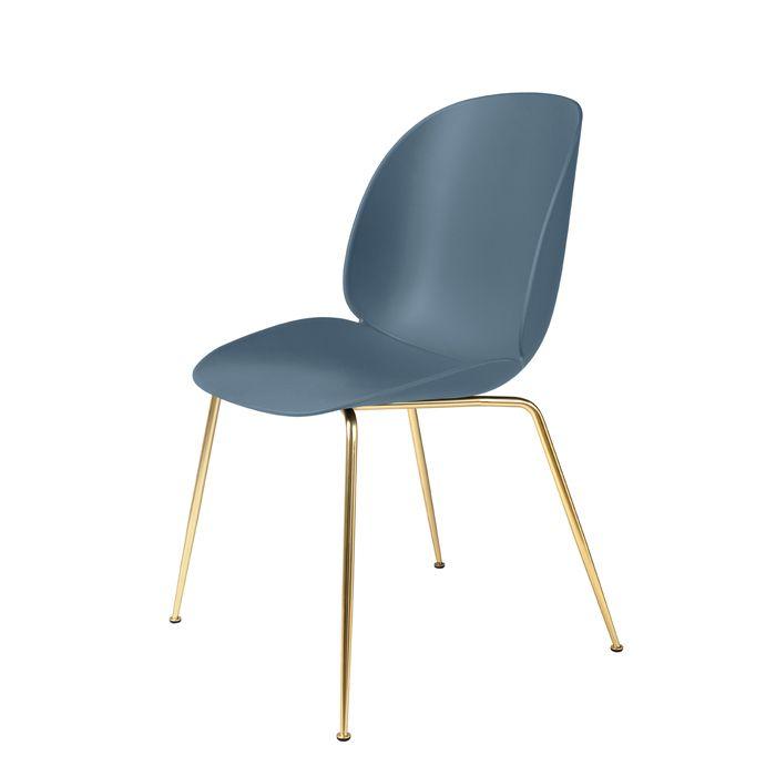 Gubi Beetle Stuhl Messinggestell Blue Grey Online Kaufen Bei Stuhle Plastikstuhle Metallstuhle