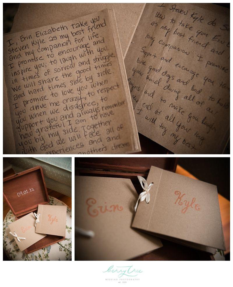 Write vows in keepsake booklets: Kyle & Erin | Madison Oaks Inn & Gardens | Madison, GA | BerryTree Wedding Photography