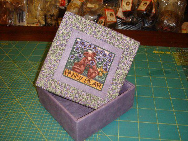 scatola rivestita con tessuti americani