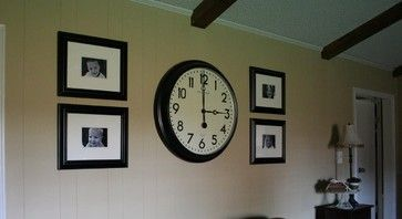 Large Clock With Photos Big Wall Clocks Family Room Walls Wall Clock Design