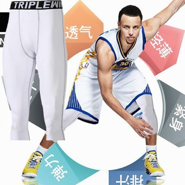 Basketball Pants Tights Pants Pants Men S Summer Leggings Compression Pants Black White Stretch Sport Running Tights Workout Running Workouts Summer Leggings