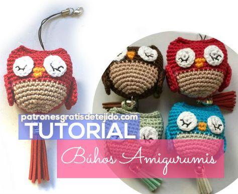 Amigurumi Patrones Gratis De Buho : Aprendemos a tejer búhos pequeños amigurumis costura