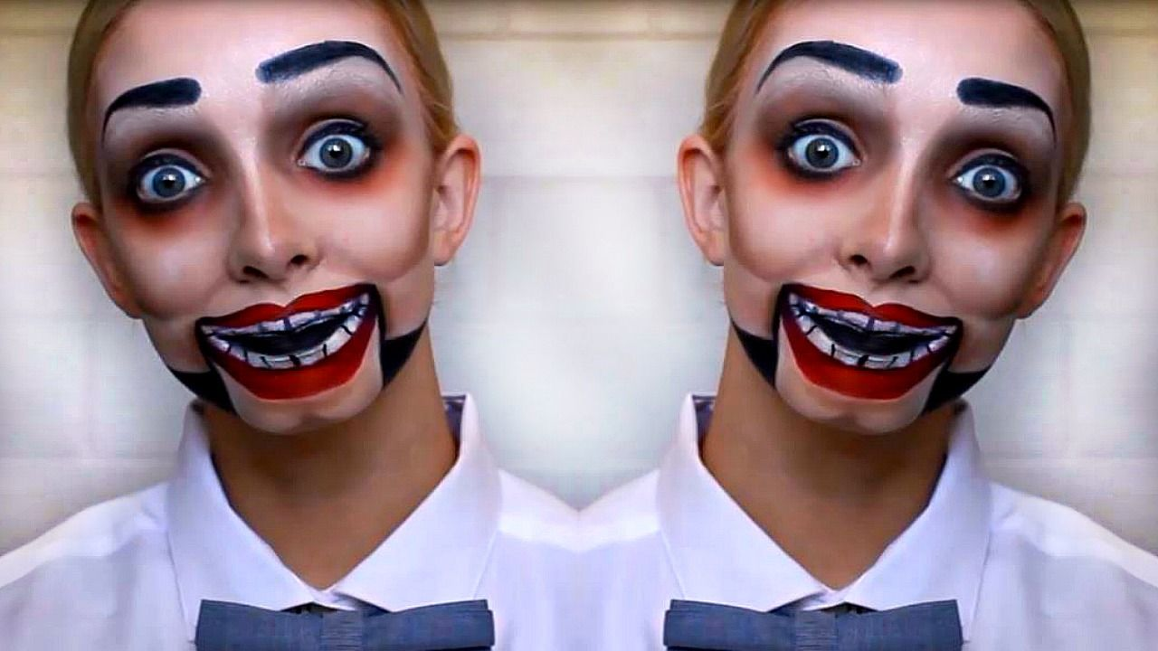 Dummy Makeup Using The Makeup You Already Own Super Affordable Costume Halloween Makeup For Kids Halloween Makeup Tutorial Creepy Halloween Makeup