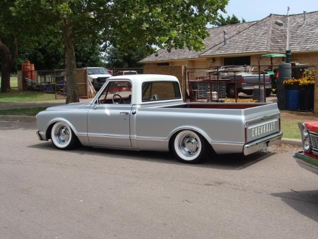 White Walls On Chrome Rally Wheels Chevy C10 Chevy Trucks