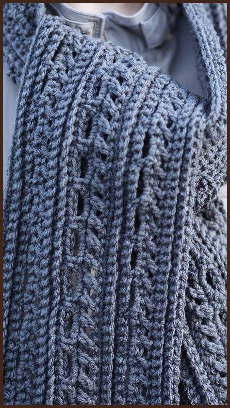Crochet Tutorial: The Gentleman\'s Scarf | Bufandas para hombre, Para ...
