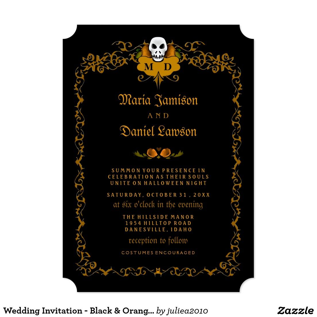 Create your own invitation black wedding