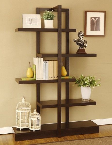 Bookshelves i absolutely love the little vintage for Furniture of america nara contemporary 6 shelf tiered open bookcase