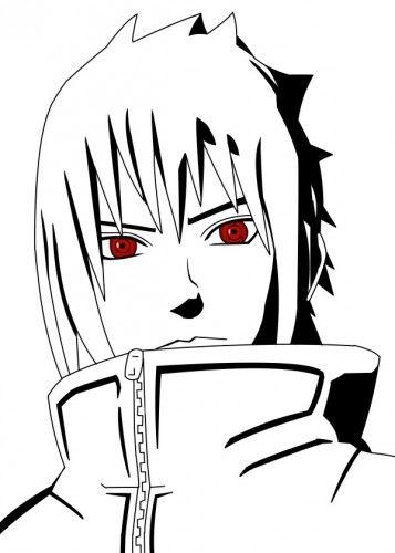 Naruto Sasuke Anime Manga Movies Fanart Draw Black White Ninja TV