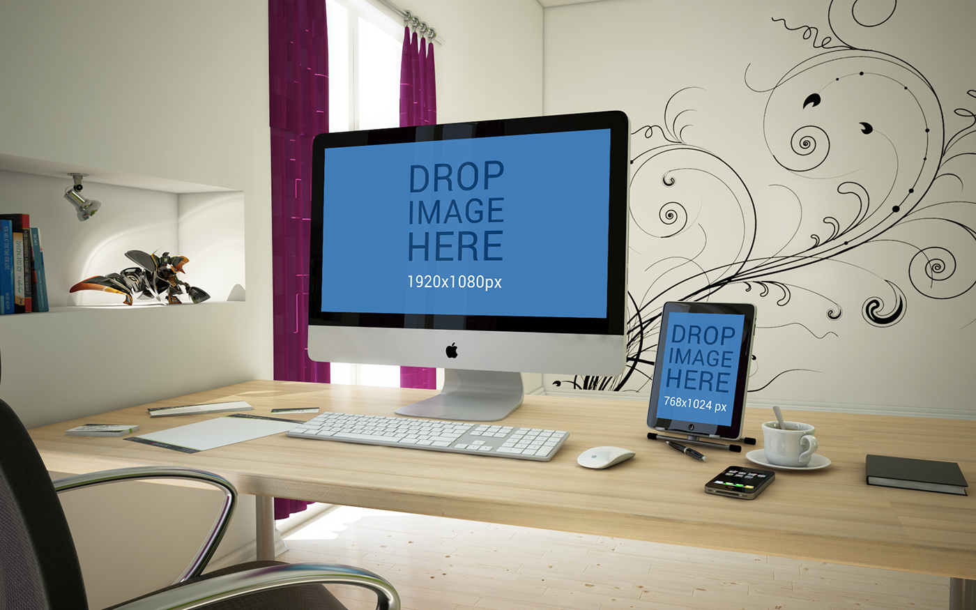Free iMac and iPad Mockup PSD (9.57 MB) | Psdblast | #free ...