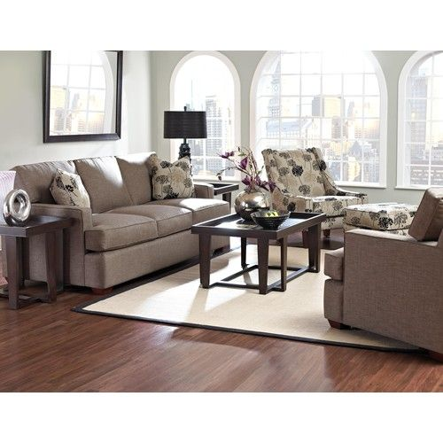 Belfort Basics Mason Contemporary Sofa with Track Arms