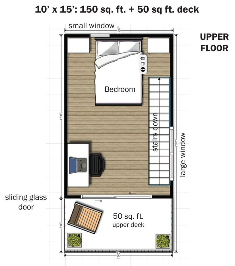 the eagle 1 a 350 sq ft 2 story steel framed micro home - 350 Sq Ft Floor Plan