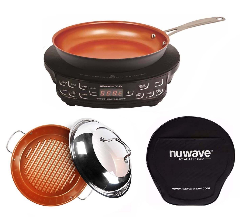 Nuwave Pic Flex Precision Induction Cooktop With 9 Fry Pan And 11 Grill Pan Induction Cooktop Nuwave Cooktop