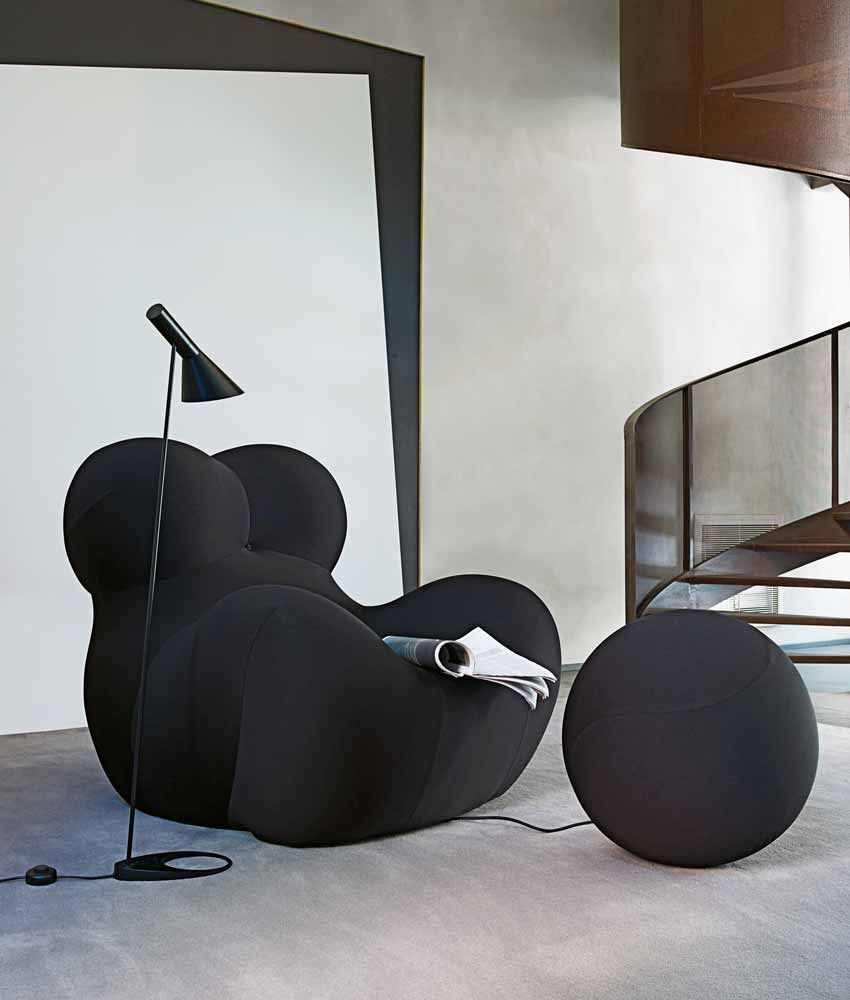 b b italia up 5 6 armchair and pouf images chaises et. Black Bedroom Furniture Sets. Home Design Ideas