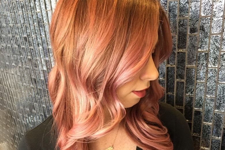 Trend Report Rose Gold Hair Color Paul Mitchell Hair Coloring