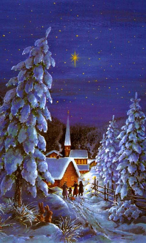 Merry Christmas - Snow World, Warm House - Holiday Wallpapers Details