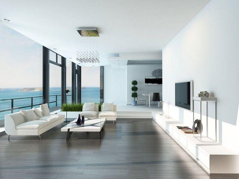 Décoration intérieur salon blanc: 48 idées de déco moderne | Salon ...