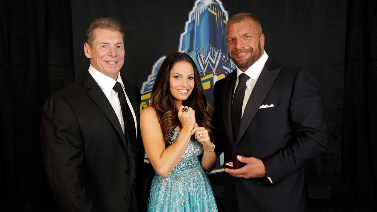 WWE Hall Of Fame 2013-Vince McMahon, Trish Stratus (w ...