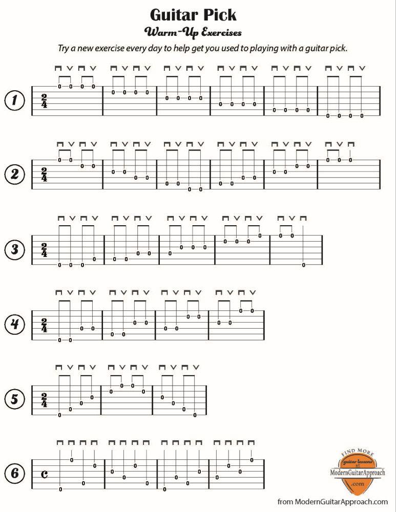 Easy warm ups modern guitar approach guitar lessons