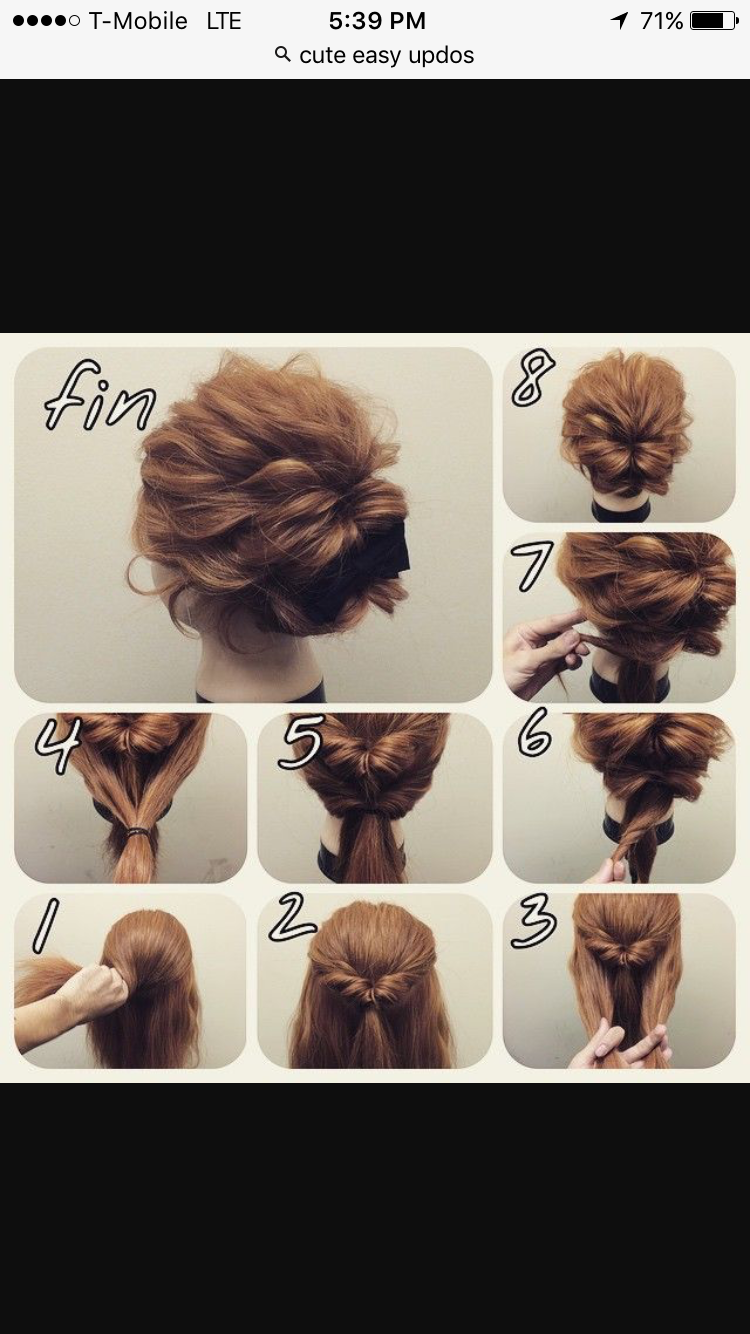 Easy Everyday Updo Easy Everyday Hairstyles Mom Hairstyles Short Hair Updo