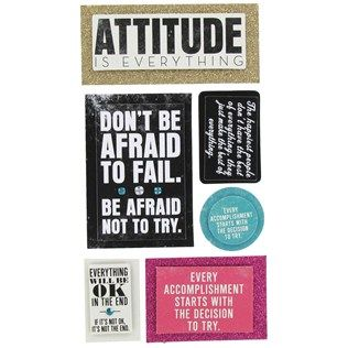 Attitude is Everything 3D Stickers   Hobby Lobby   895599