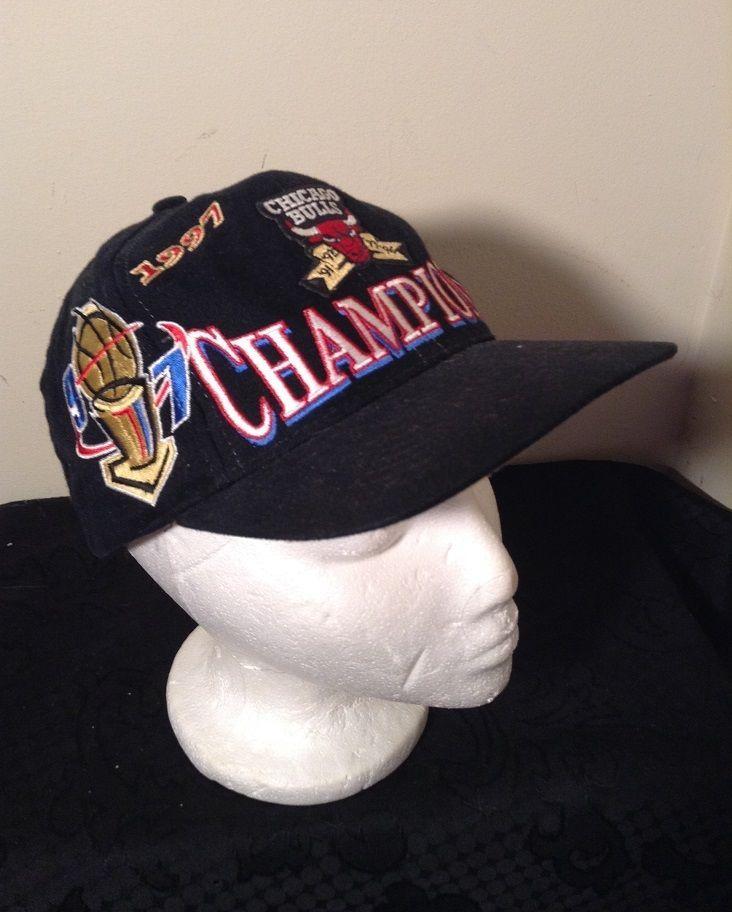 7c746894a60399 EUC Vintage 1997 CHICAGO BULLS CHAMPIONSHIP LOCKER ROOM HAT Black Michael  Jordan #LogoAthletics #ChicagoBulls