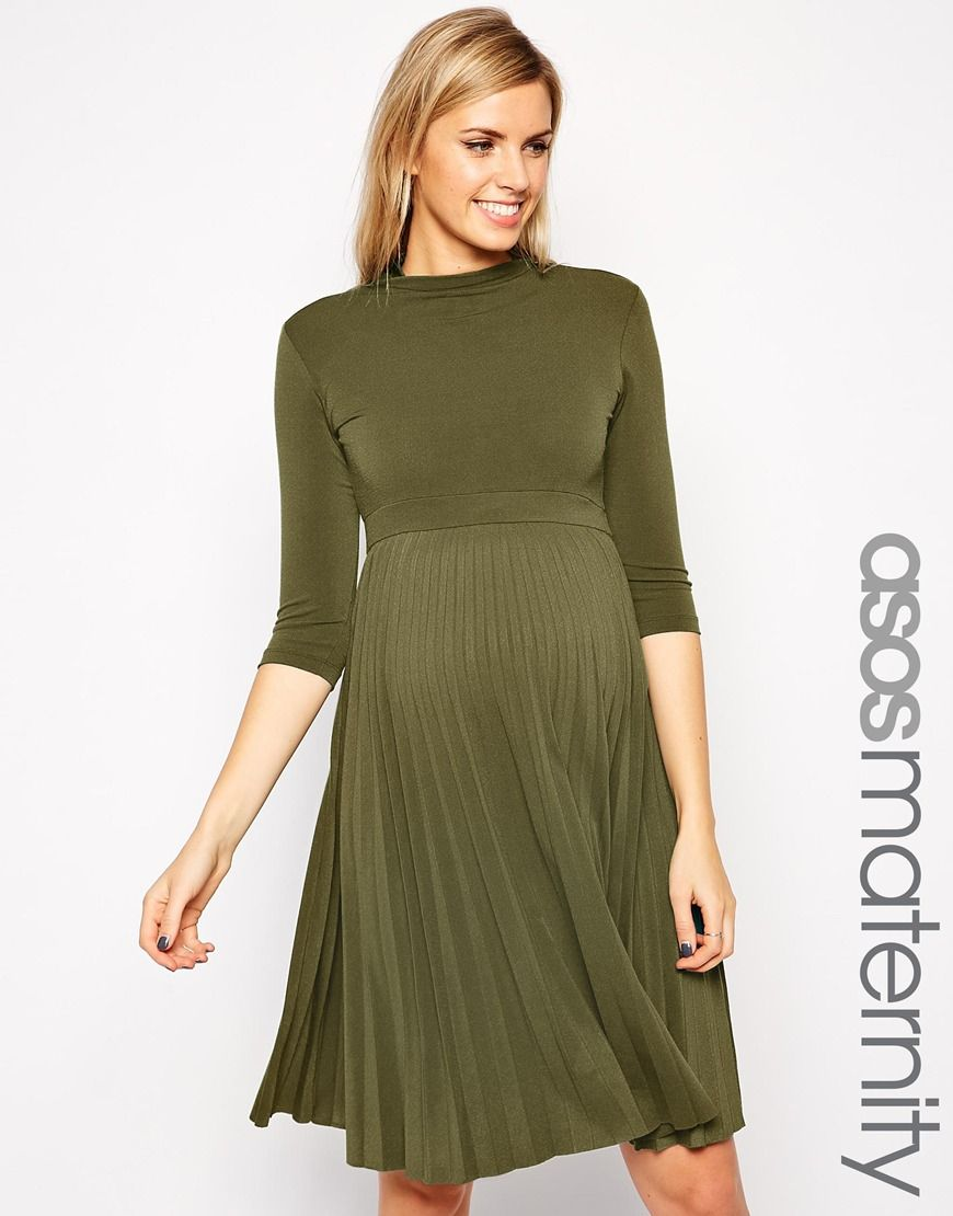 Image 1 of asos maternity skater dress with pleated skirt and 34 136e4e800c821eced380542eec7fcdceg ombrellifo Image collections
