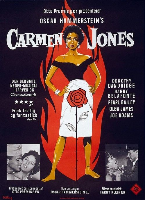 Carmen Jones-except for some black exploitation films this is one of the 1st film with an all black cast