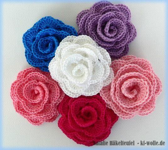 Pdf Häkelanleitung Rose Mit Blätter Häkeln Pinterest Crochet