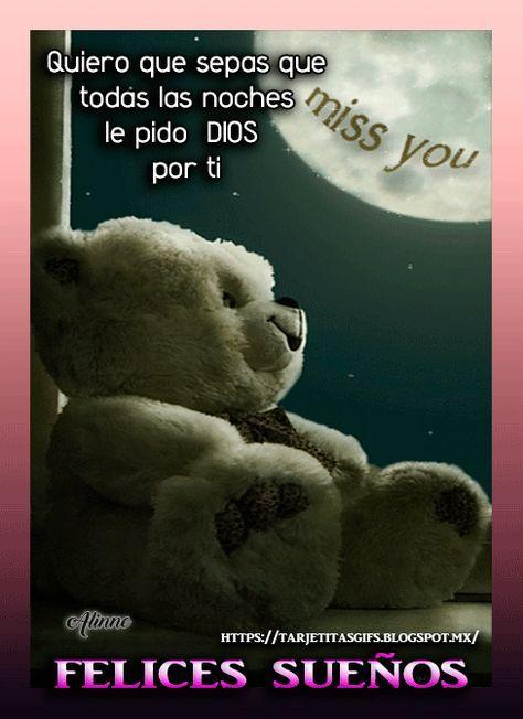 Tarjetitas En Gifs Felices Sueños Mi Amor Buenas Noches