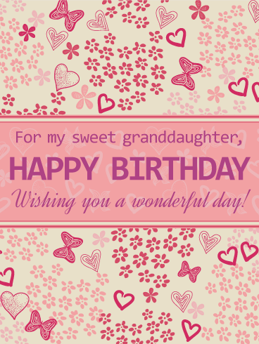 For My Sweet Granddaughter Happy Birthday Card Granddaughters Are