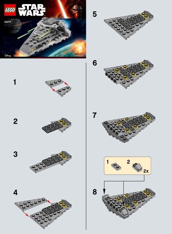 Star Wars First Order Star Destroyer Lego 30277 Lego