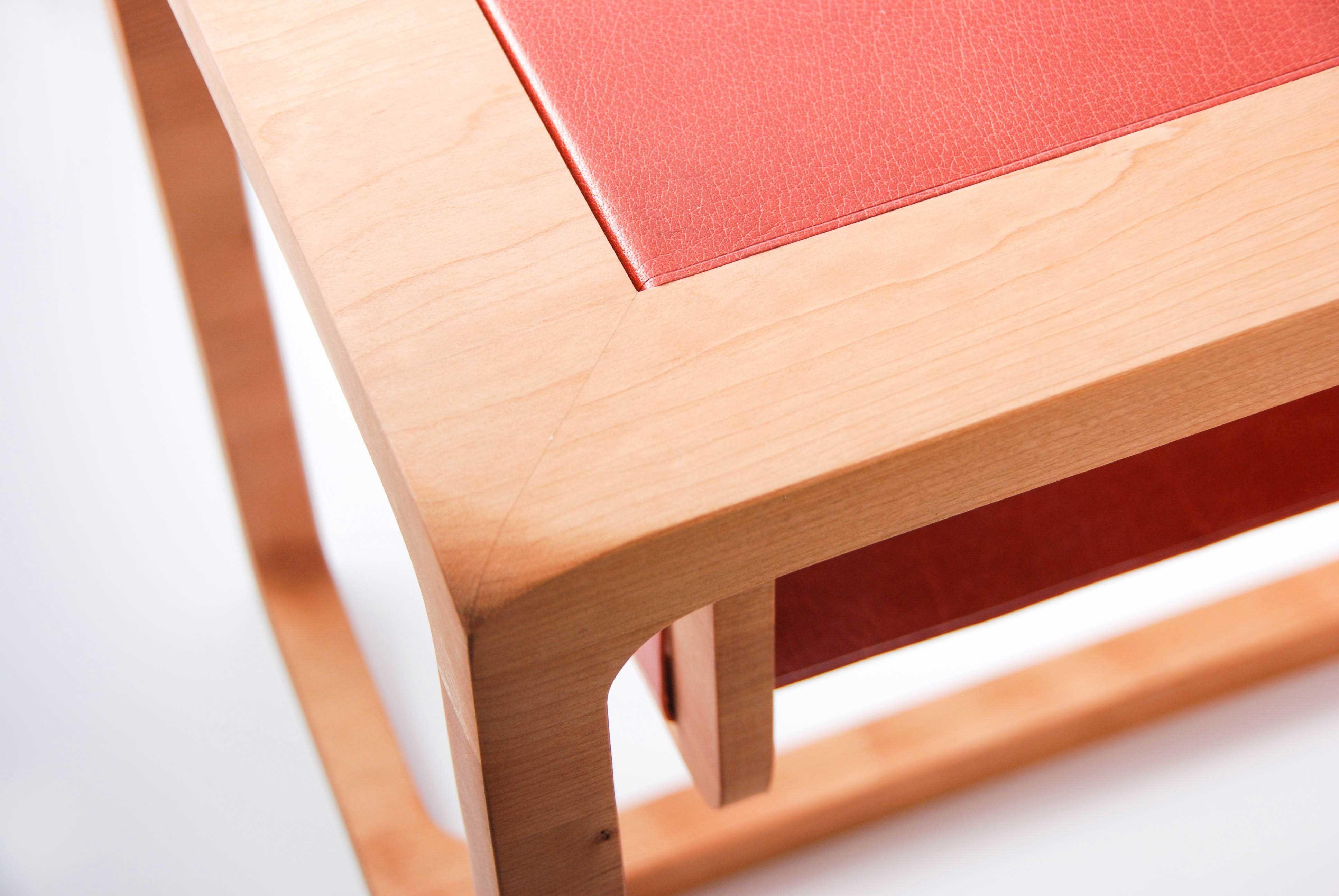 Brick By Brick Side Table Handmade In Montreal Woodandleather Table De Chevet Bois Table De Chevet Chevet Bois